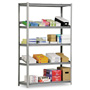 "Metal Box International Heavy Duty Open Shelving Unit, 48"" x 18"", 5 Shelves, Silver"
