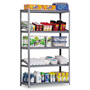 "Metal Box International Heavy Duty Open Shelving Unit, 36"" x 24"", 5 Shelves, Silver"