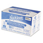 "Medline VLMP8101 Light Blue 2-Ply Tissue, 1-Ply Poly NaPackleen Disposable Bibs, 13"" x 18"""