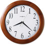 "Howard Miller Clock Corporate Wall Clock, Classic Cherry Finish/Gold Second Hand, 12 3/4"" Diameter"
