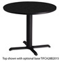 "Mayline Table Base For 30"" Round or Square Table Tops, 28""h, Black"
