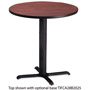 "Mayline Table Top, 36"" Round, Mahogany"