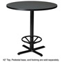 "Mayline Table Top, 42"" Round, Charcoal Anthracite"