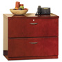 Mayline Mira Series Wood Veneer 2-Drawer Lateral File, 34 3/4w x 24d x 29 1/2h, Med Chry