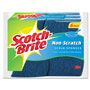 "3M No Scratch Multi-Purpose Scrub Sponge, 4 2/5 x 2 3/5"", Blue, 6/Pack"