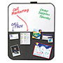 Post-it® Self-Stick/Dry Erase Combination Board, 22 x 18, Gray/White, Black Frame