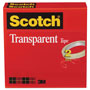 "Scotch Transparent Tape 600 2P12 72, 1/2"" x 2592"", 3"" Core, Transparent, 2/Pack"