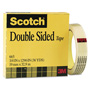 "Scotch 665 Double-Sided Office Tape, 3/4"" x 36 yards, 3"" Core, Clear"