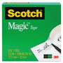 "Scotch Magic Tape, 3/4"" x 1296"", 1"" Core, Clear"