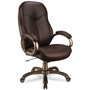Office Star Eco Leather High Back Swivel/Tilt Chair, Espresso/Cocoa