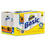 Bounty Basic Select-a-Size Paper Towels, 11 x 6, White, 103 Sheets/Roll, 12 Rolls/Pack