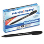 Papermate® Comfortmate Stick Ball Pen, Black Barrel, Black Ink, Med Pt,1.0 Mm