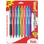 Pentel WOW! Retractable Ballpoint Pen, Med Pt, Assorted, 8/Pack