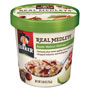 Quaker Foods Real Medleys Oatmeal, Apple Walnut Oatmeal+, 2.64oz Cup, 12/Carton