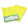 Quality Park Fashion Color Clasp Envelopes, Yellow, 10 x 13, 10/Pack