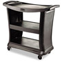 Rubbermaid Executive Service Cart, 3-Shelf, 300lbs, 20-1/3 x 38, Black