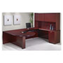 "Rudnick D-Shaped Desk, 42""x72""x29"", Mahogany"