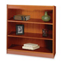 "Safco Square Edge Veneer 3 Shelf Bookcase, 36"" x 12"" x 36"", Cherry"