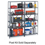 "Safco Industrial Steel Shelves, 48"" x 24"", Gray"