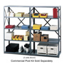 "Safco Commercial Open Shelving Unit, 36"" x 12"", Gray"