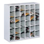 Safco Wood Mail Sorter with Adjustable Dividers, Stackable, 36 Compartments, Gray