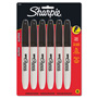 Sharpie® Super Permanent Markers, Fine Point, Black, 6/Pack