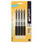 Uni-Ball Signo 207 Retractable Gel Pen, Black Ink, 0.7mm, 4/Pack