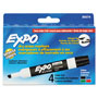 Expo® Low Odor Dry Erase Markers, Four Color Sets, Chisel Tip
