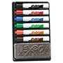 Expo® Dry Erase Marker Organizer, Chisel Tip, Assorted, 6/Set