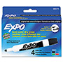 Expo® Dry Erase Markers, Bullet Tip, Assorted, 4/Set