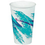 Solo 10 Oz Hot Paper Cups, Jazz Design, Pack of 1000
