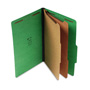 S And J Paper / Gussco Standard Classification Folder, 6 Section, 2 1/4 Exp., Lgl, 15/BX, Emerald Green