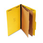 S And J Paper / Gussco Standard Classification Folder, 6 Section, 2 1/4 Exp., Lgl, 15/BX, Bright Yellow