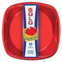 "Solo Squared Plastic Plates, 9"", 40/PK, Red/Blue"