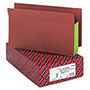 "Smead Redrope End Tab File Pockets, Green, Tyvek Gusset, 5 1/4"" Expansion, 10/Box"