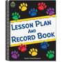 Teacher Created Resources Paw Prints Lesson Plan & Record Book With Monthly Planner, 160 Pages, 8-1/2 X 11
