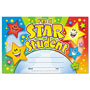 "Trend Enterprises Recognition Awards, I`m A Star Student, 8 1/2"" w x 5 1/2"" h"