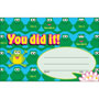 "Trend Enterprises Recognition Awards, You Did It--Frogs, 8 1/2"" w x 5 1/2"" h"