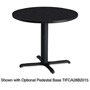 "Mayline 30"" Round Table Top, Charcoal"