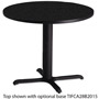 "Mayline 36"" Round Table Top, Charcoal"