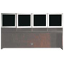 Mayline Eclipse Series Frosted Glass Hutch Doors With Brushed Silver Frame