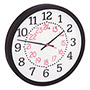 "Universal 14"" Diameter Two Color Numerals Wall Clock, 24 Hour, Black Case"