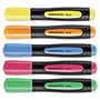 Universal Desk Highlighter with Comfort Grip, Assorted Colors, 5 Color Fluorescent Set