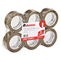 "Universal Box Sealing Tape, 2"" x 100 Yards, 3"" Core, Tan, Six per Box"