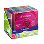 Verbatim CD RW Rewritable Discs, Branded Surface, 700MB/80MIN, 4x, Assorted, 20/Pack
