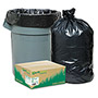 "Webster Trash Can Liners, 33 Gal., 0.9 mil, 32-1/2"" x 40"", 80/CT, Black"