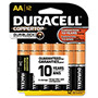 Duracell MN15RT12Z Coppertop® 1.5V Alkaline Batteries, Reclosable Package, 12 per Pack, AA