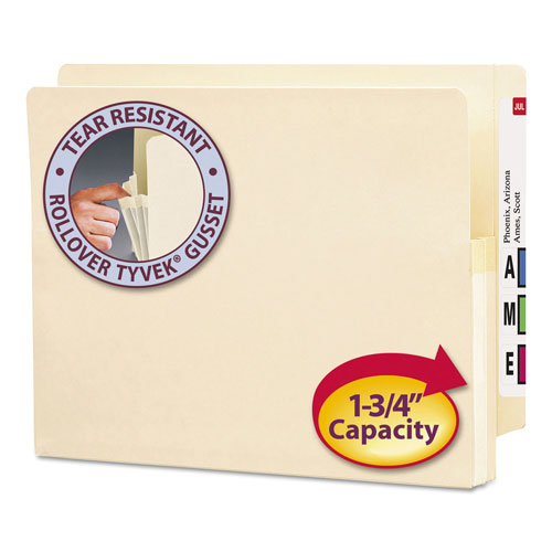 Smead Manila End Tab File Pocket with Manila Gussets, Letter, 1 -  75114