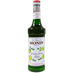 Monin Granny Smith Apple Syrup, 750 Ml. Twelve 750 Ml Bottles Of Flavoring Syrup