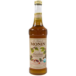 Monin Organic Hazelnut Drink Syrup, 750mL